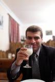 Man drinks tahn Royalty Free Stock Images