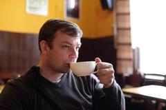 Man drinks tea Royalty Free Stock Photo