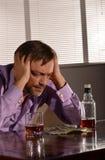 Man drinks whiskey Stock Photos