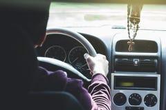 Man drive a car royalty free stock photos