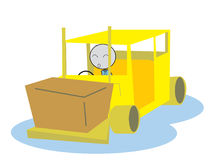 Man drive a Forklift Stock Images