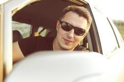 Man drive his car Royalty Free Stock Photos