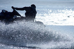 Man drive on the jetski Royalty Free Stock Image
