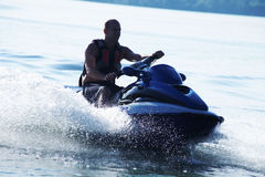 Man drive on the jetski Royalty Free Stock Photo