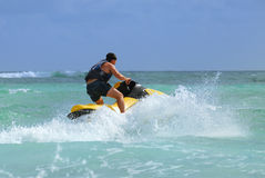Man drive on the jetski Royalty Free Stock Photography