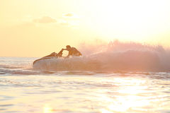 Man drive on the jetski Stock Photography