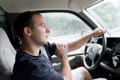 Man Driving Royalty Free Stock Image