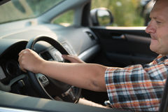 Man is driving Stock Images