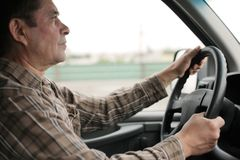 Man driving Royalty Free Stock Photos