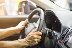 Man driving Royalty Free Stock Photography