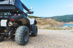 A man is driving ATV Royalty Free Stock Image