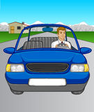 Man Driving Car Stock Image