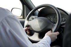 Man driving car. Close up stock images
