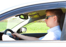 Man driving a car Royalty Free Stock Image