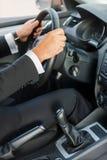 Man driving a car. Stock Photo