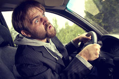 Man driving a car Royalty Free Stock Photo