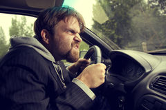 Man driving a car Stock Photos