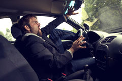Man driving a car Stock Photography