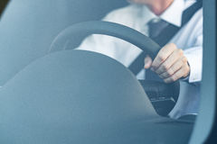Man driving a car Royalty Free Stock Image