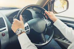 A man driving car Royalty Free Stock Images
