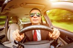 Man driving a car. Stock Photos