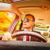 Man driving a car. Stock Photography