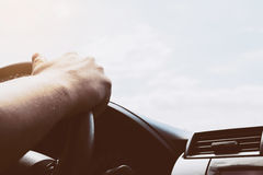 Man driving car Royalty Free Stock Photography