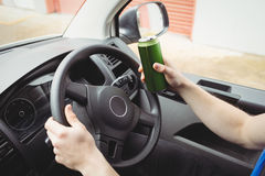 Man driving while drunk Stock Images