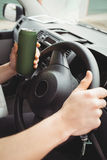 Man driving while drunk Stock Photography