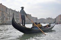 Free Man Driving Gondola Boat In Venice, Italy Stock Image - 126033611