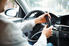 Man driving his car Royalty Free Stock Images