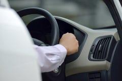 Man Driving His Car Royalty Free Stock Photos
