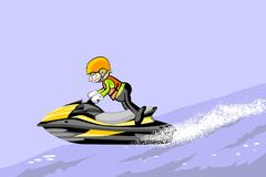 Man driving jet ski on a water Royalty Free Stock Photography