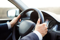 Man while driving Royalty Free Stock Photo