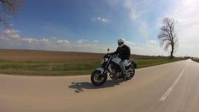 Man driving motorcycle Royalty Free Stock Photos