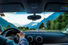Man Driving in the Road at Daytime Royalty Free Stock Image