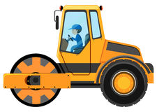 Man driving road roller Stock Image