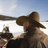 Man driving sleigh. stock photography