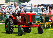 Man driving tractor at Cartmel Show 2011 Stock Photos