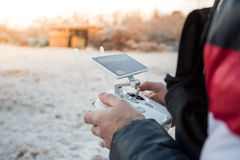 Man with drone Stock Photography