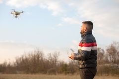 Man with drone Stock Image