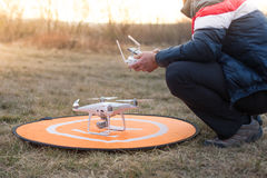 Man with drone Stock Images