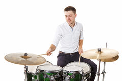 Man drummer Royalty Free Stock Images