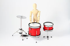 Man with drums Stock Images