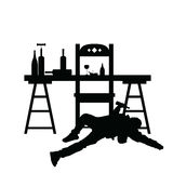 Man drunk silhouette in black color illustration Royalty Free Stock Images