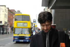 Man in Dublin stock images