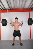 Man with dumbbell weight Royalty Free Stock Photos