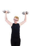 Man with dumbbells Royalty Free Stock Photography