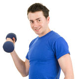 Man with a dumbell Stock Photography