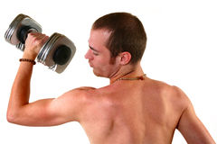 Man with Dumbell Stock Image
